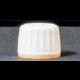 Kamštelis, su atsukant nulaužiamu žiedeliu, baltos/geltonos spalvos